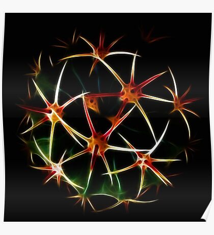 Fractal And Spherical Symmetry Poster
