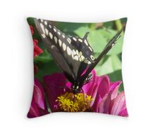 Butterfly And Flower Throw Pillow