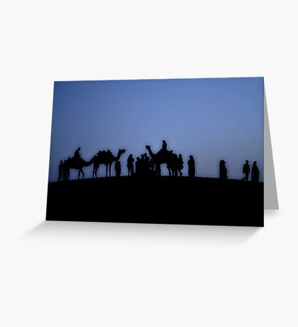 Resting Travellers Greeting Card
