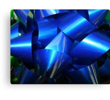 Big Blue Bow Canvas Print