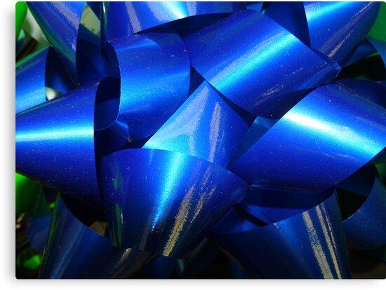 Big Blue Bow by WildestArt