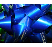 Big Blue Bow Photographic Print