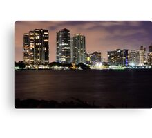 Miami City Nights Canvas Print