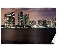 Miami City Nights Poster