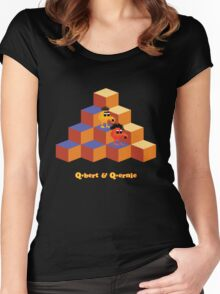 Q*Bert and Q*ernie Women's Fitted Scoop T-Shirt