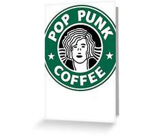 Pop Punk Coffee Greeting Card