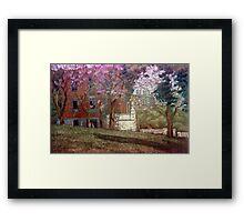 Árboles en flor Framed Print