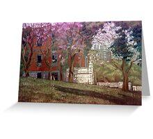 Árboles en flor Greeting Card
