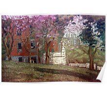 Árboles en flor Poster