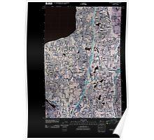USGS Topo Map Washington State WA Poverty Bay 20110422 TM Inverted Poster