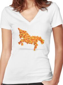 Unicandycorn Women's Fitted V-Neck T-Shirt