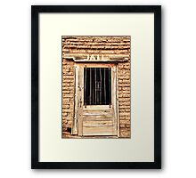 Western Jail House Door Framed Print