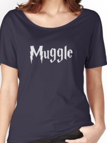 Muggle (white text) Women's Relaxed Fit T-Shirt