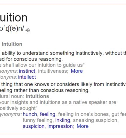 What is intuition ? Sticker
