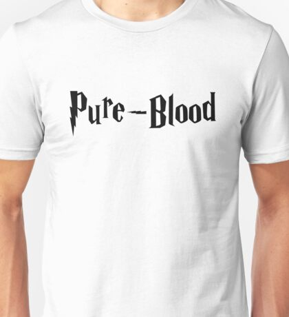Pure-Blood (black text) Unisex T-Shirt