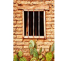 Old Western Jailhouse Window Photographic Print