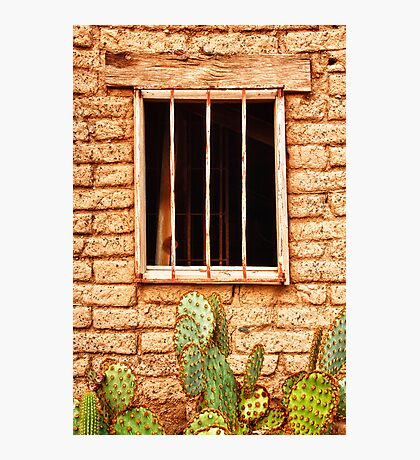 Old Western Jailhouse Window Photographic Print