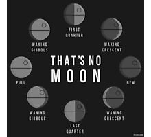 That's No Moon - Death Star Phases Photographic Print