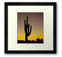 Okay Sunrise Framed Print