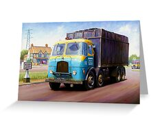 TVW bulk coal lorry Greeting Card