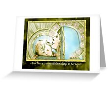 Mary Pondered Greeting Card
