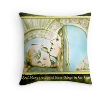 Mary Pondered Throw Pillow