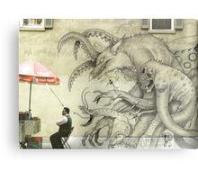 Monster Graffiti Metal Print