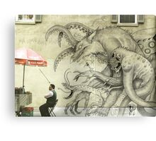 Monster Graffiti Canvas Print