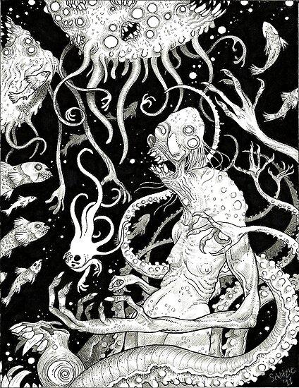 Horror in the Depths by Schlitzie