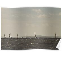 Sailing on Choppy Water Poster