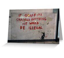 Banksy street art Greeting Card