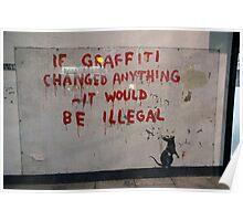 Banksy street art Poster
