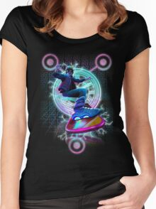 Hoverboard to the Future Women's Fitted Scoop T-Shirt