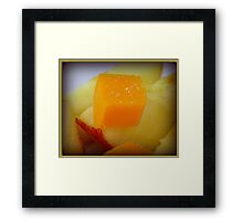 Cheese and Apples Framed Print