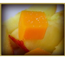 Cheese and Apples Photographic Print
