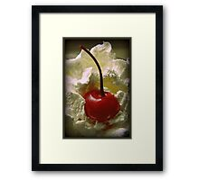Whipped Cherry Framed Print