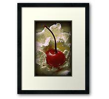 Whipped Cherry Framed Print