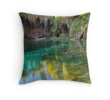 Plitvice nature Throw Pillow