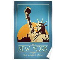 Retro New York Travel Poster Poster