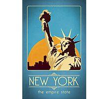Retro New York Travel Poster Photographic Print