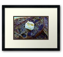 French Toast with Butter Framed Print