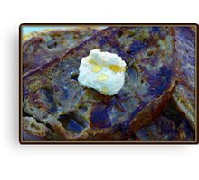French Toast with Butter Canvas Print