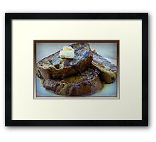 Sweet Potato French Toast Framed Print