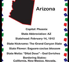 Arizona State Fact Poster by ValeriesGallery