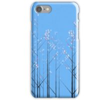 Cherry Blossom - blue background iPhone Case/Skin