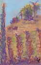 Vineyard View (pastel) by Niki Hilsabeck