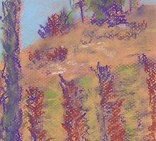 Vineyard View (pastel) by Niki Hilsabeck