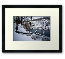 Cold waterfalls Framed Print