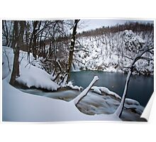 Cold waterfalls Poster