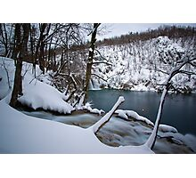 Cold waterfalls Photographic Print